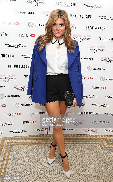 Zoe Hardman attends the 25th birthday party of Marie Claire at Hotel Cafe Royal on September 17 2013 in London England