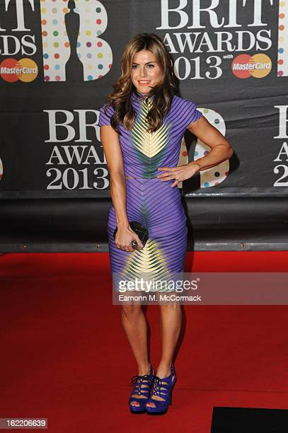 Zoe Hardman attends the Brit Awards 2013 at the 02 Arena on February 20 2013 in London England