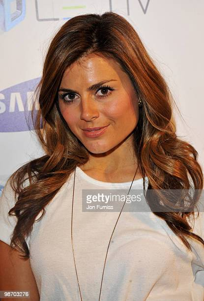 Zoe Hardman attends the launch party for Samsung 3D Television at the Saatchi Gallery on April 27 2010 in London England