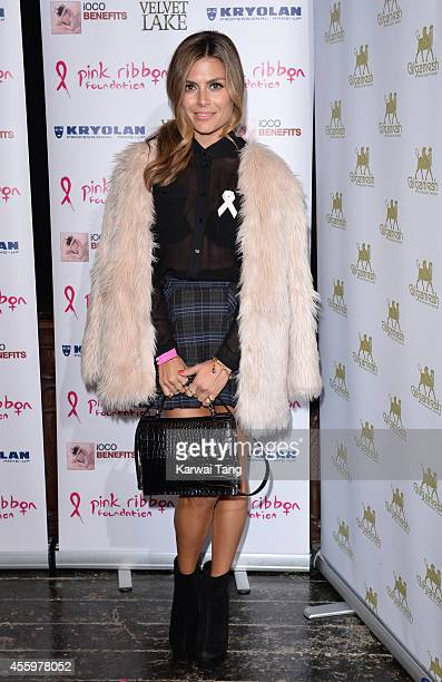Zoe Hardman attends the Pink Ribbon 2014 Launch Party For Breast Awareness Month at Gilgamesh on September 23 2014 in London England