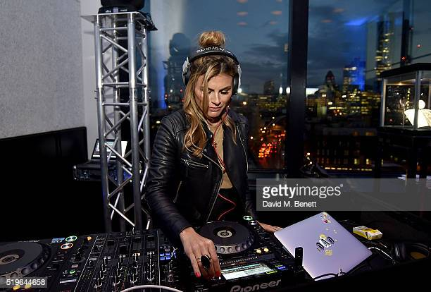 Zoe Hardman DJs at The Watch Gallery And Hublot Launch introducing the Classic Fusion Special Edition Series on April 7 2016 in London England