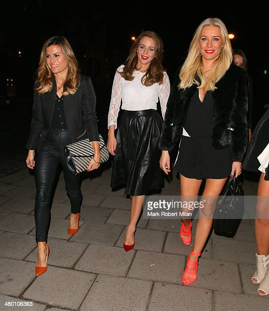Zoe Hardman Lydia Bright and Denise van Outen at Mango Tree restaurant on March 22 2014 in London England