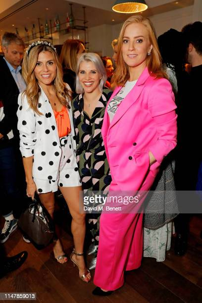 Zoe Hardman, Pips Taylor and Sarah-Jane Mee attend the launch of AllBright Mayfair on May 08, 2019 in London, England.