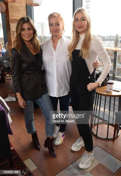 """Zoe Hardmand, Sarah-Jane Mee and Kate Lawler attend a live broadcast of """"The Happy Vagina"""" podcast at Treehouse Hotel London on March 8, 2020 in..."""
