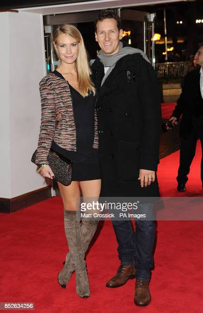 Zoe Hobbs and Brendan Cole arriving for the World Premiere of The Hunger Games Catching Fire at the Odeon Leicester Square London