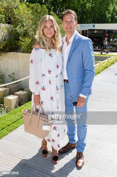 Zoe Hobbs and Brendan Cole attend RHS Chelsea Flower Show press day at Royal Hospital Chelsea on May 22 2017 in London England