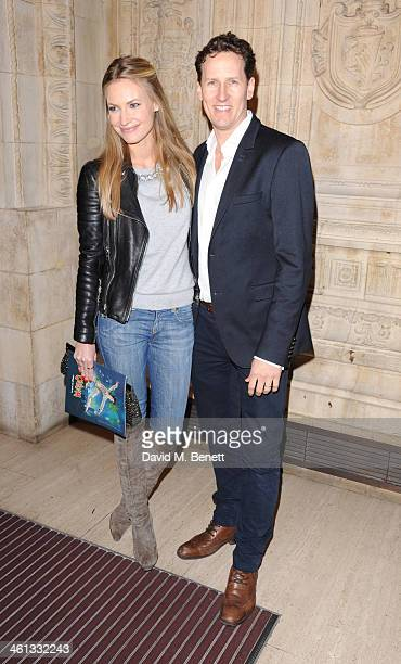 Zoe Hobbs and Brendan Cole attends the VIP night for Cirque Du Soleil Quidam at Royal Albert Hall on January 7 2014 in London England