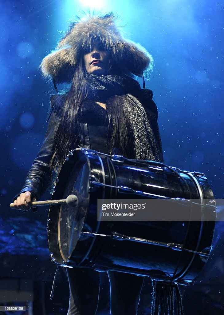 Zoe Jakes of Beats Antique performs during the Snowglobe Music Festival at Lake Tahoe Community College on December 29, 2012 in South Lake Tahoe, CA.