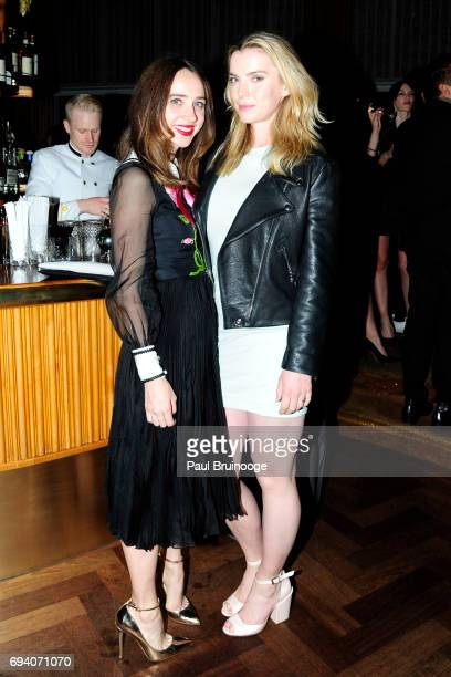 Zoe Kazan and Betty Gilpin attend Netflix hosts the after party for 'Okja' at AMC Lincoln Square Theater on June 8 2017 in New York City