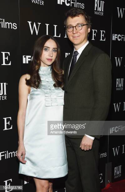 Zoe Kazan and Paul Dano arrive at the Los Angeles Premiere for IFC Films' 'Wildlife' at ArcLight Hollywood on October 9 2018 in Hollywood California