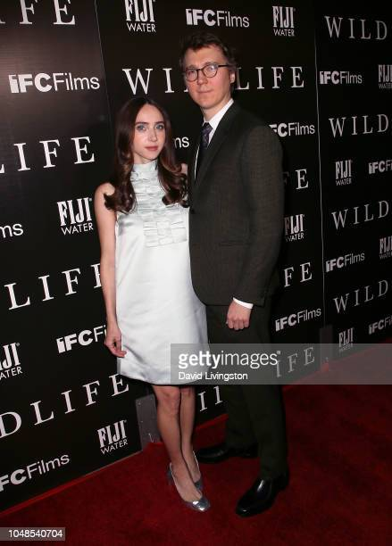 Zoe Kazan and Paul Dano attend the Los Angeles Premiere for IFC Films' 'Wildlife' at ArcLight Hollywood on October 9 2018 in Hollywood California