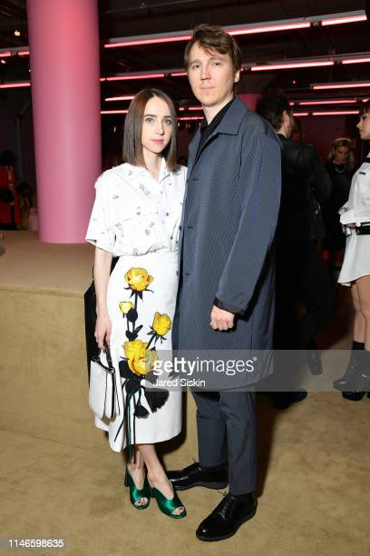 Zoe Kazan and Paul Dano attend the Prada Resort 2020 fashion show at Prada Headquarters on May 02 2019 in New York City