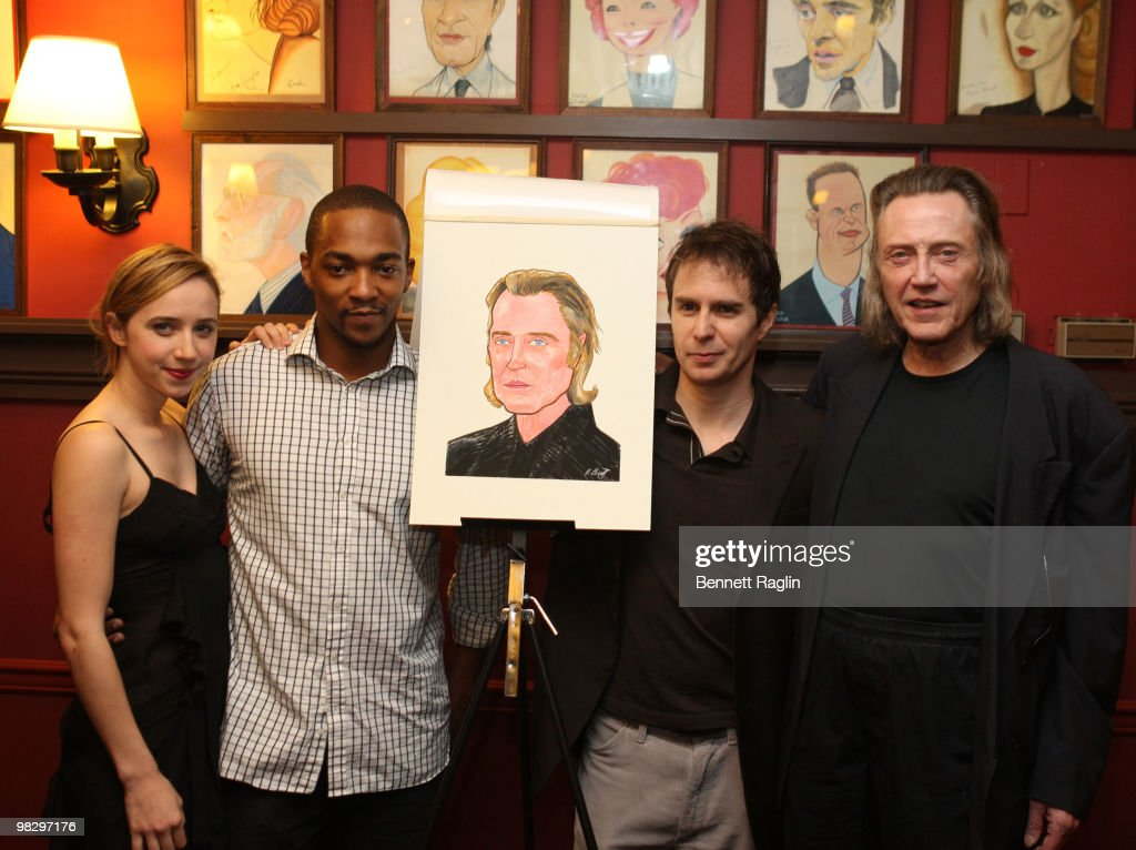 Christopher Walken's Caricature Unveiling At Sardi's  - April 6, 2010