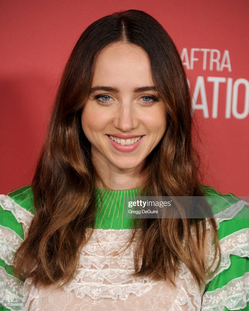Zoe Kazan arrives at the SAG-AFTRA Foundation Patron of the Artists Awards 2017 on November 9, 2017 in Beverly Hills, California.