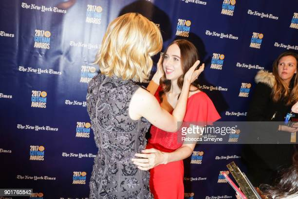 Zoe Kazan attends the 2017 IFP Gotham Awards at Cipriani Wall Street on November 27 2017 in New York NY