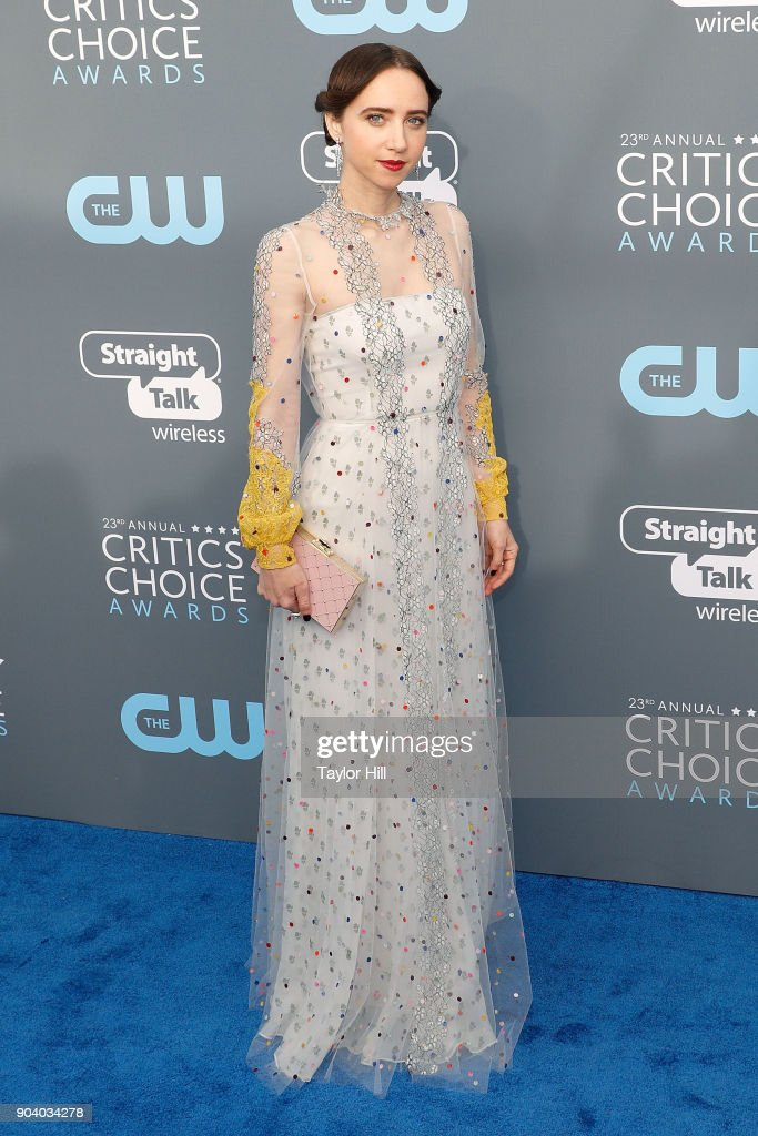Zoe Kazan attends the 23rd Annual Critics' Choice Awards at Barker Hangar on January 11, 2018 in Santa Monica, California.