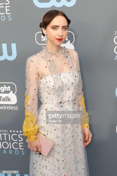 Zoe Kazan attends the 23rd Annual Critics' Choice Awards at Barker Hangar on January 11 2018 in Santa Monica California