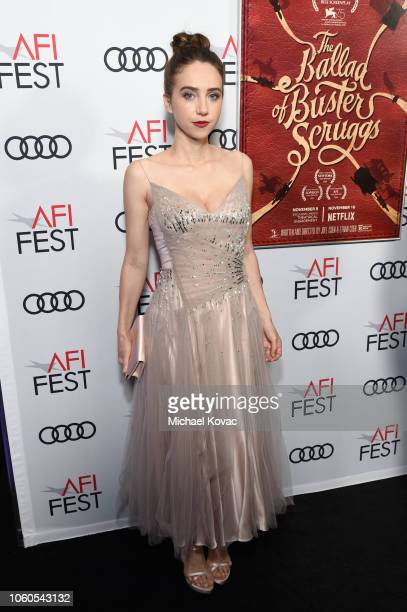 Zoe Kazan attends the Gala Screening of 'The Ballad Of Buster Scruggs' at AFI FEST 2018 Presented By Audi at TCL Chinese Theatre on November 11 2018...