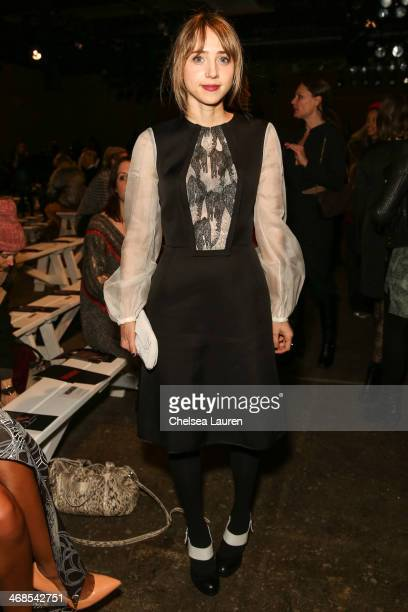 Zoe Kazan attends the Honor fashion show during MercedesBenz Fashion Week Fall 2014 at Eyebeam on February 10 2014 in New York City