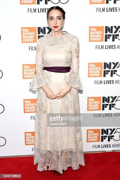 Zoe Kazan attends the Netflix's The Ballad of Buster Scruggs NYFF Red Carpet Premiere at Alice Tully Hall on October 4 2018 in New York City