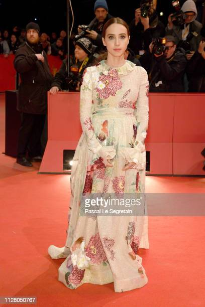 Zoe Kazan attends the 'The Kindness Of Strangers' premiere during the 69th Berlinale International Film Festival Berlin at Berlinale Palace on...