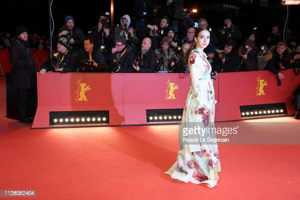 "Zoe Kazan attends the ""The Kindness Of Strangers"" premiere during the 69th Berlinale International Film Festival Berlin at Berlinale Palace on..."