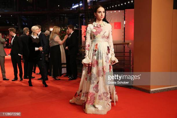 Zoe Kazan attends the The Kindness Of Strangers premiere during the 69th Berlinale International Film Festival Berlin at Berlinale Palace on February...