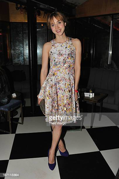 Zoe Kazan attends the Tribeca Film Festival after party 2013 for The Pretty One sponsored by BR Guest on April 20 2013 in New York City