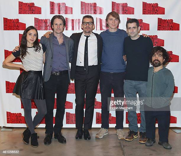Zoe Kazan Josh Hamilton Ethan Hawke Paul Dano Jonathan Marc Sherman and Peter Dinklage attend Things We Want Original Cast Benefit Reading at...