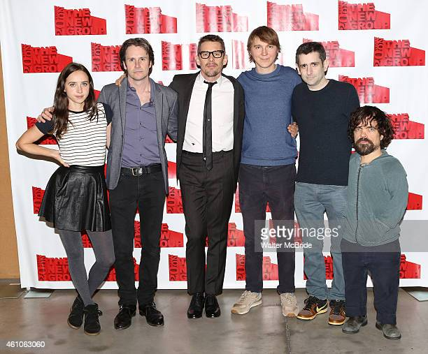 Zoe Kazan Josh Hamilton Ethan Hawke Paul Dano Jonathan Marc Sherman and Peter Dinklage attend the OneNightOnly Reunion Reading of Jonathan Marc...
