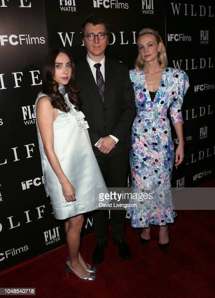 Zoe Kazan Paul Dano and Carey Mulligan attend the Los Angeles Premiere for IFC Films' 'Wildlife' at ArcLight Hollywood on October 9 2018 in Hollywood...