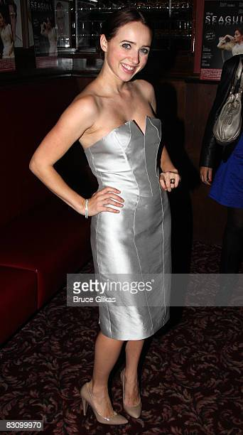 Zoe Kazan poses at The Opening Night After Party for The Seagull at Sardi's on October 2 2008 in New York City
