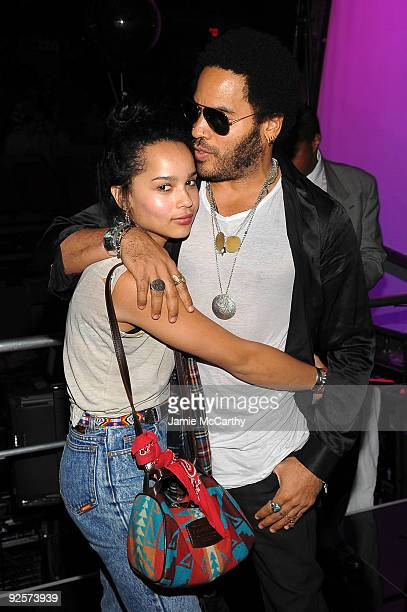 *EXCLUSIVE* Zoe Kravitz and Lenny Kravitz attend the 25th Anniversary Rock Roll Hall of Fame Concert at Madison Square Garden on October 30 2009 in...