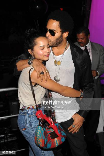 Zoe Kravitz and Lenny Kravitz attend the 25th Anniversary Rock & Roll Hall of Fame Concert at Madison Square Garden on October 30, 2009 in New York...