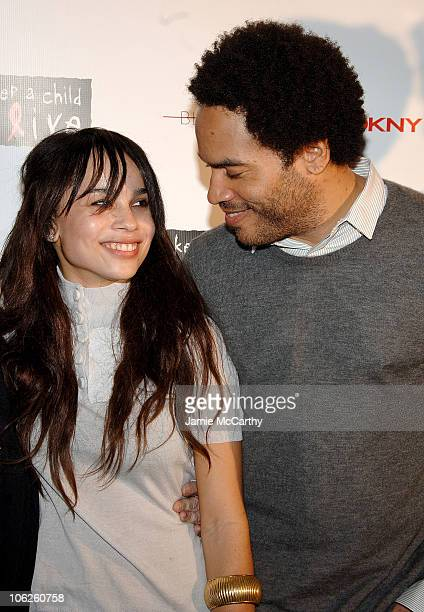 Zoe Kravitz and Lenny Kravitz during DKNY Jeans 401 Projects Hosted by Lenny Kravitz and Zoe Kravitz at 401 Projects in New York City New York United...