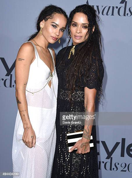 Zoe Kravitz and Lisa Bonet arrives at the InStyle Awards at Getty Center on October 26 2015 in Los Angeles California