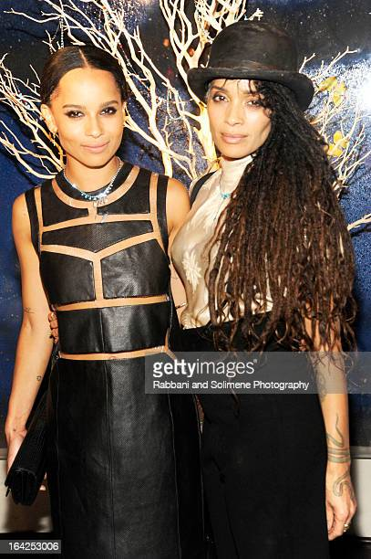 Zoe Kravitz and Lisa Bonet attends the Zoe Kravitz For Swarovski Crystallized Launch at Gramercy Park Hotel Rooftop on March 21 2013 in New York City