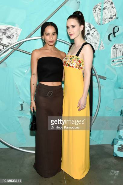Zoe Kravitz and Rachel Brosnahan attend Tiffany Co Celebrates 2018 Tiffany Blue Book Collection THE FOUR SEASONS OF TIFFANY at Studio 525 on October...