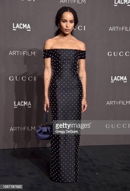 Zoe Kravitz arrives at the 2018 LACMA Art Film Gala at LACMA on November 3 2018 in Los Angeles California