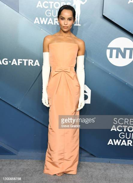 Zoe Kravitz arrives at the 26th Annual Screen Actors Guild Awards at The Shrine Auditorium on January 19, 2020 in Los Angeles, California.