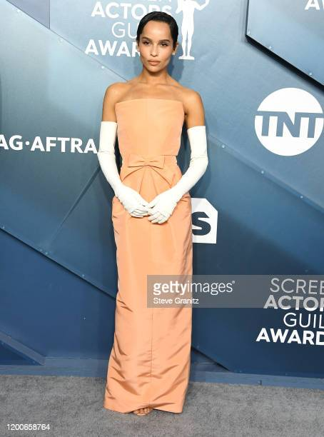 Zoe Kravitz arrives at the 26th Annual Screen ActorsGuild Awards at The Shrine Auditorium on January 19, 2020 in Los Angeles, California.