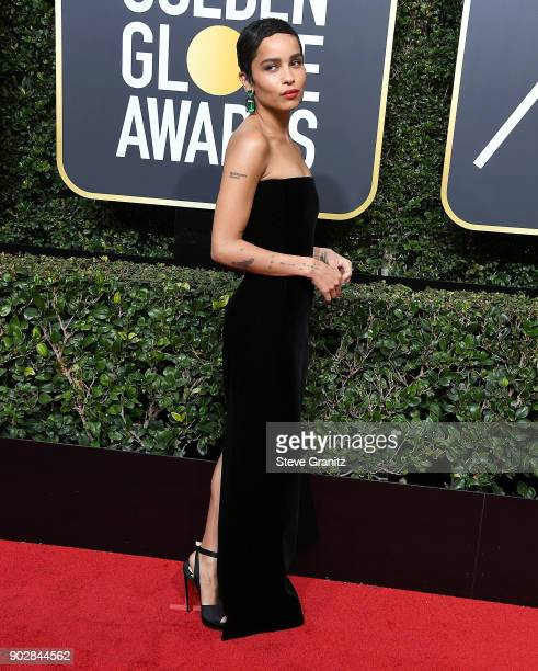 Zoe Kravitz arrives at the 75th Annual Golden Globe Awards at The Beverly Hilton Hotel on January 7 2018 in Beverly Hills California