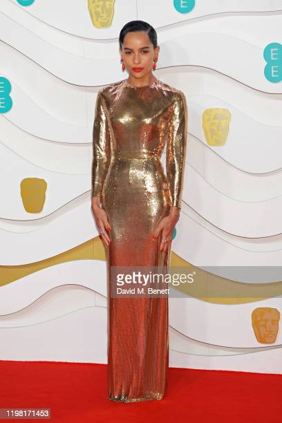 Zoe Kravitz arrives at the EE British Academy Film Awards 2020 at Royal Albert Hall on February 2 2020 in London England