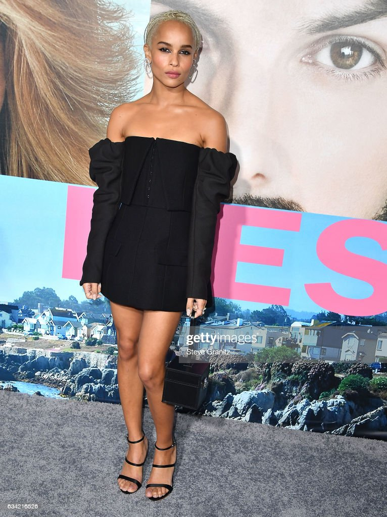 Zoe Kravitz arrives at the Premiere Of HBO's 'Big Little Lies' at TCL Chinese Theatre on February 7, 2017 in Hollywood, California.