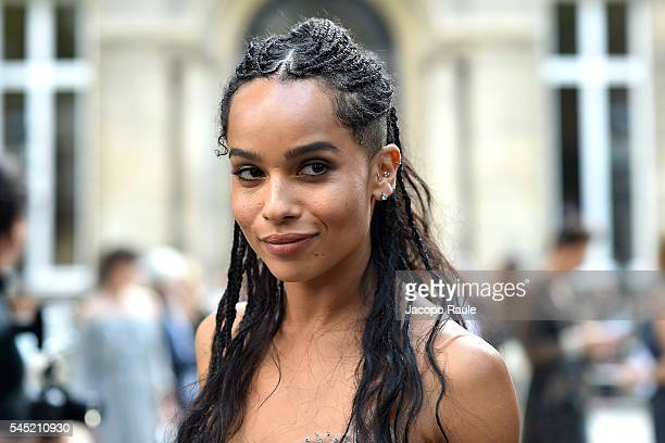 Zoe Kravitz arrives at Valentino Fashion Show during Paris Fashion Week Haute Couture F/W 20162017 on July 6 2016 in Paris France