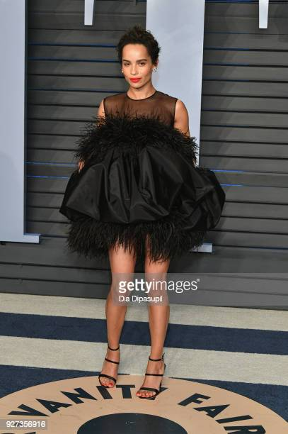 Zoe Kravitz attends the 2018 Vanity Fair Oscar Party hosted by Radhika Jones at Wallis Annenberg Center for the Performing Arts on March 4 2018 in...