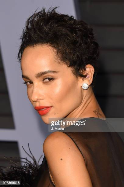 Zoe Kravitz attends the 2018 Vanity Fair Oscar Party hosted by Radhika Jones at the Wallis Annenberg Center for the Performing Arts on March 4 2018...