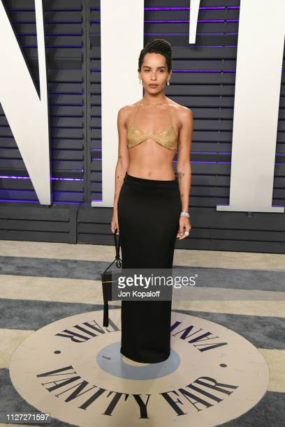 Zoe Kravitz attends the 2019 Vanity Fair Oscar Party hosted by Radhika Jones at Wallis Annenberg Center for the Performing Arts on February 24, 2019...