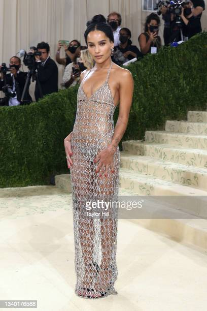 """Zoe Kravitz attends the 2021 Met Gala benefit """"In America: A Lexicon of Fashion"""" at Metropolitan Museum of Art on September 13, 2021 in New York City."""