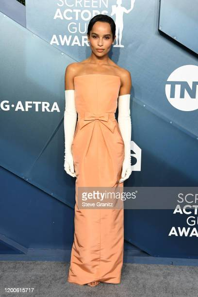 Zoe Kravitz attends the 26th Annual Screen ActorsGuild Awards at The Shrine Auditorium on January 19, 2020 in Los Angeles, California.